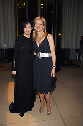 Left to right, SHARLEEN SPITERI and LADY HELEN TAYLOR at 'Not Another Burns Night' in association with CLIC Sargebt and Children's Hospice Association Scotland held at ST.Martins Lane Hotel, London on 3rd March 2008.<br />