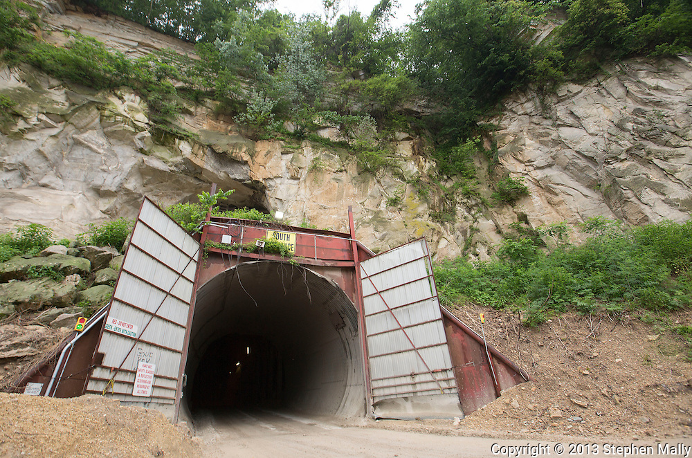 The south entrance to the mine at Pattison Sand Company in Garnavillo, Iowa on June 5, 2013.