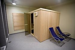 Sauna in Hotel center at Pokljuka,  on November 16, 2009, in Pokljuka, Slovenia.   (Photo by Vid Ponikvar / Sportida)