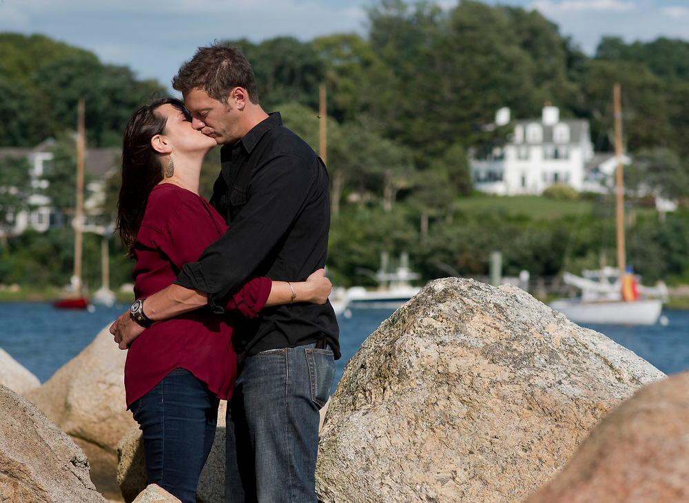 Doug and Katie had their engagement photo session at the Knob in Woods Hole.