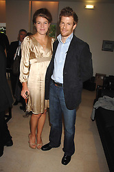 Chef TOM AIKENS and his wife AMBER at an evening with racing driver Lewis Hamilton held at The Hempel Hotel, 31-35 Craven Hill Gardens, London W2 on 4th July 2007.<br />
