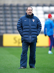SWANSEA, WALES - Monday, March 25, 2013: Croatia's head coach Igor Stimac during a training session at the Liberty Stadium ahead of the 2014 FIFA World Cup Brazil Qualifying Group A match against Wales. (Pic by David Rawcliffe/Propaganda)