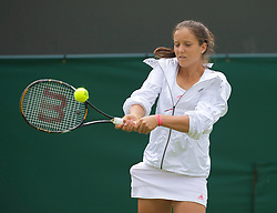 LONDON, ENGLAND - Monday, June 22, 2009: Laura Robson (GBR) during her 6-3, 4-6, 2-6 defeat during the 1st Round of the Ladies' Singles on day one of the Wimbledon Lawn Tennis Championships at the All England Lawn Tennis and Croquet Club. (Pic by David Rawcliffe/Propaganda)