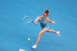 MELBOURNE, Jan. 18, 2019  SP)AUSTRALIA-MELBOURNE-TENNIS-2019 AUSTRALIAN OPEN-DAY 5.    Maria Sharapova of Russia competes.    during the women's third round match between Maria Sharapova of Russia and Caroline Wozniacki of Denmark at the 2019 Australian Open in Melbourne, Australia, Jan. 18, 2019. (Credit Image: © Bai Xuefei/Xinhua via ZUMA Wire)