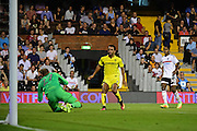 Burton Albion midfielder Lee Williamson (7) follows up during the EFL Sky Bet Championship match between Fulham and Burton Albion at Craven Cottage, London, England on 13 September 2016. Photo by Jon Bromley.