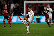 SYDNEY, AUSTRALIA - JULY 20: Leeds United midfielder Kalvin Phillips (23) controls the ball during the club friendly football match between Leeds United and Western Sydney Wanderers FC on July 20, 2019 at Bankwest Stadium in Sydney, Australia. (Photo by Speed Media/Icon Sportswire)
