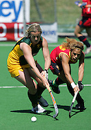 Tarryn BRIGHT and Nuria CAMON (C) during the BDO Women's Champions Challenge 1 match between South Africa and Spain held at the Hartleyvale Stadium in Cape Town, South Africa on the 17 October 2009 ..Photo by RG/www.sportzpics.net.+27 21 (0) 21 785 6814