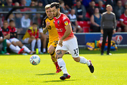 Salford City midfielder Richie Towell in action during the EFL Sky Bet League 2 match between Salford City and Port Vale at Moor Lane, Salford, United Kingdom on 17 August 2019.
