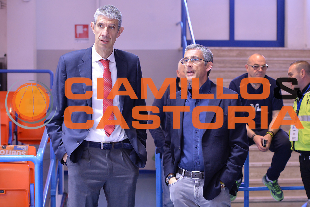 Ario Costa, Marino Fernando<br /> Enel Brindisi - Consultinvest Pesaro<br /> BASKET Serie A 2016 <br /> Brindisi 09/04/2017<br /> FOTO CIAMILLO / M.Longo