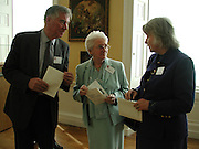 Dr. Eric Anderson, Lady Anderson and Sheena Barber,  Official opening Compton Verney, 23 March 2004. ONE TIME USE ONLY - DO NOT ARCHIVE  © Copyright Photograph by Dafydd Jones 66 Stockwell Park Rd. London SW9 0DA Tel 020 7733 0108 www.dafjones.com
