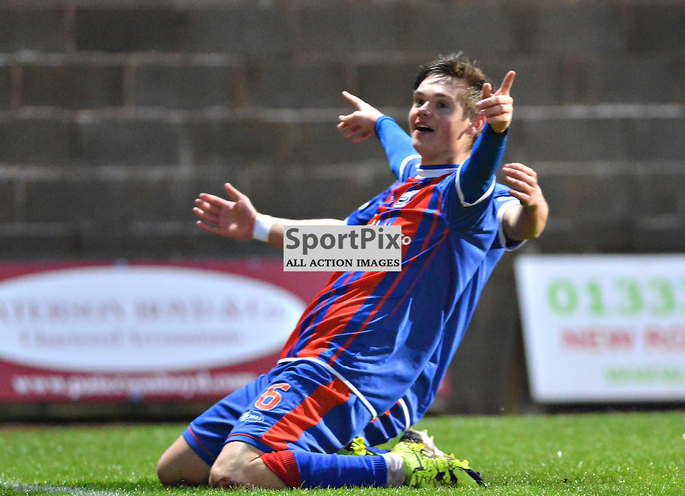 Thomas Reilly of City celebrates the opening goal at East Fife.....(c) BILLY WHITE | SportPix.org.uk