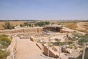 Israel, Negev, Tel Be'er Sheva believed to be the remains of the biblical town of Be'er Sheva. General view