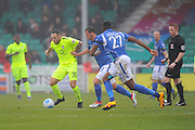 Danny Holmes (35) of York City on the attack during the Vanarama National League match between Eastleigh and York City at Arena Stadium, Eastleigh, United Kingdom on 12 November 2016. Photo by Graham Hunt.