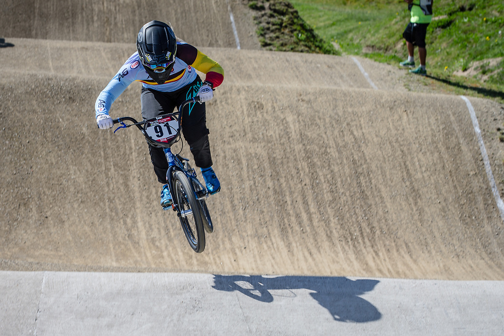 #91 (VANHOOF Elke) BEL during practice of Round 3 at the 2018 UCI BMX Superscross World Cup in Papendal, The Netherlands