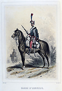 Guiard of Honour. From 'Napoleon 1er et la Garde Imperiale' by Eugene Fieffe, Paris, 1858.