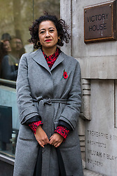 © Licensed to London News Pictures. 07/11/2019. London, UK. Television presenter and journalist, Samira Ahmed arrives at the Central London Employment Tribunal to attend an equal pay case hearing against the BBC. Samira Ahmed, who presents Newswatch on BBC One and Radio 4's Front Row claims she was paid less than male colleagues for doing equivalent work under the Equal Pay Act. Photo credit: Vickie Flores/LNP