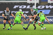 Ospreys' Dan Lydiate in action during todays match<br /> <br /> Photographer Craig Thomas/Replay Images<br /> <br /> EPCR Champions Cup Round 4 - Ospreys v Northampton Saints - Sunday 17th December 2017 - Parc y Scarlets - Llanelli<br /> <br /> World Copyright &copy; 2017 Replay Images. All rights reserved. info@replayimages.co.uk - www.replayimages.co.uk