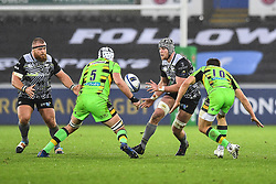 Ospreys' Dan Lydiate in action during todays match<br /> <br /> Photographer Craig Thomas/Replay Images<br /> <br /> EPCR Champions Cup Round 4 - Ospreys v Northampton Saints - Sunday 17th December 2017 - Parc y Scarlets - Llanelli<br /> <br /> World Copyright © 2017 Replay Images. All rights reserved. info@replayimages.co.uk - www.replayimages.co.uk