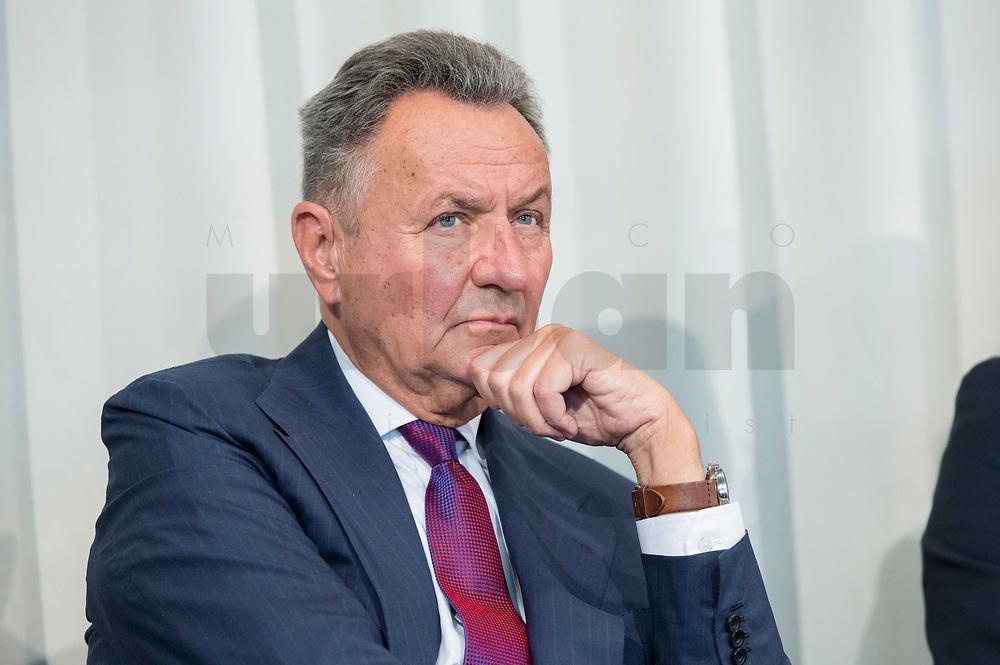 09 MAY 2019, BERLIN/GERMANY:<br /> Dr. Michael Frenzel, Praesident des Wirtschaftsforums der SPD, Wirtschaftskonferenz des Wirtschaftsforums der SPD, Kalkscheune<br /> IMAGE: 20190509-01-110