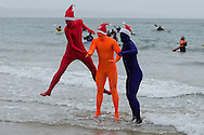 Boxing Day Swim at Tenby, Pembrokeshire