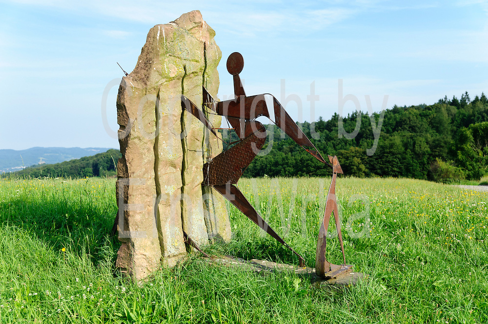 Skulpturenpfad bei Wald-Michelbach, Odenwald, Hessen, Deutschland