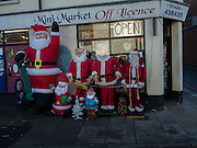 Father Christmas's outside shop in Hastings, 22 December 2016