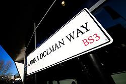 Marina Dolman Way sign - Mandatory by-line: Dougie Allward/JMP - 01/12/2019 - RUGBY - Ashton Gate - Bristol, England - Bristol Bears v London Irish - Gallagher Premiership Rugby