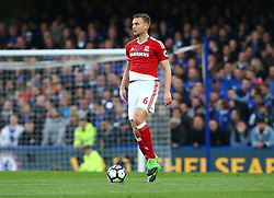 May 8, 2017 - London, England, United Kingdom - Ben Gibson of Middlesbrough during Premier League match between Chelsea and Middlesbrough at Stamford Bridge, London, England on 08 May 2017. (Credit Image: © Kieran Galvin/NurPhoto via ZUMA Press)