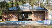 Sign advertising lenten dinners at St. Joseph Hall in Abita Springs, Louisiana