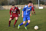 Greenwich Borough's Ryan Dolby  during the Southern Counties East match between AFC Croydon Athletic and Greenwich Borough at the Mayfield Stadium, Croydon, United Kingdom on 12 March 2016. Photo by Martin Cole.