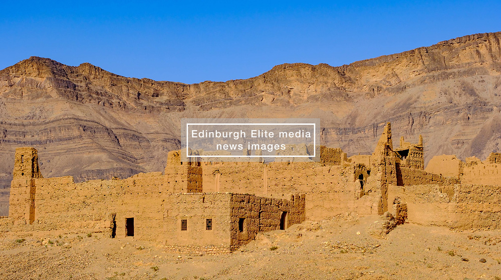 A ruined Kasbah near Zagora in southern Morocco<br /> <br /> (c) Andrew Wilson   Edinburgh Elite media