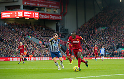 LIVERPOOL, ENGLAND - Saturday, November 30, 2019: Liverpool's Sadio Mané (R) during the FA Premier League match between Liverpool FC and Brighton & Hove Albion FC at Anfield. (Pic by David Rawcliffe/Propaganda)