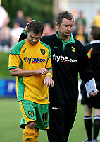Photo: Maarten Straetemans.<br /> FC Zwolle v Norwich City. Pre Season Friendly. 25/07/2007.<br /> Jamie Curton with manager Peter Grant (Norwich City)