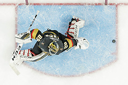 June 7, 2018: Vegas Golden Knights goaltender Marc-Andre Fleury (29) tries to make save during the Washington Capitals and Vegas Golden Knights NHL Stanley Cup Final playoff game 5 at T-Mobile Arena in Las Vegas, NV. John Crouch/CSM
