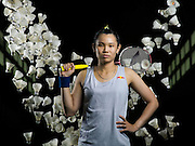 Tai Tzu-Ying poses for a portrait at the National Sports Training Center in Kaohsiung, Taiwan, on July 18th 2015.