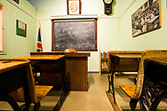 Historic school classroom in a museum in British Columbia, Canada.