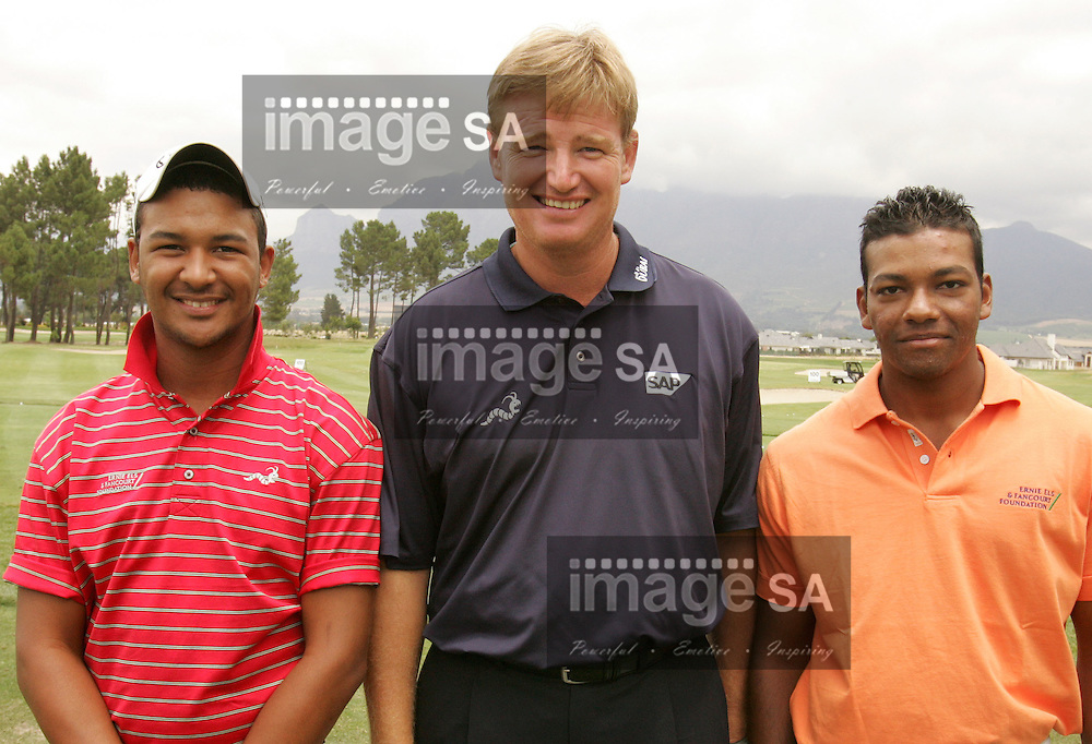 South African Airways Open 2007 | Ernie Els | PAARL, South Africa Wednesday 12 December 2007, Heinrich Bruiners and Prinavin Nelson with Ernie Els during the ProAm held at the Pearl Valley Golf Estate hosting the SAA Open...Photo by Roger Sedres/Image SA....