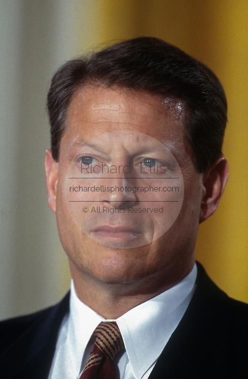 WASHINGTON, DC, USA - 1997/04/02: U.S. Vice-President Al Gore during a White House event April 2, 1997 in Washington, DC.     (Photo by Richard Ellis)