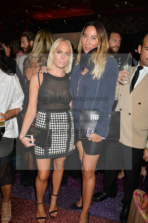 Left to right, KATHRINE FREDRIKSEN and ALEX MEYERS at a party hosted by fashion website Farfetch to launch i.am + EPs headphones hosted by Will.i.am at Loulou's, 5 Hertford Street, London on 16th September 2016.