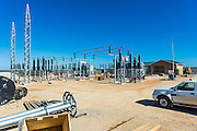 Construction of the sub station at Sere Wind Farm