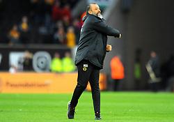 Wolverhampton Wanderers manager Nuno celebrates at the full time whistle  - Mandatory by-line: Nizaam Jones/JMP - 02/03/2019 - FOOTBALL - Molineux - Wolverhampton, England -  Wolverhampton Wanderers v Cardiff City - Premier League