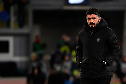 03.02.2019, Stadio Olimpico, Rom, ITA, Serie A, AS Roma vs AC Milan, 22. Runde, im Bild gattuso // gattuso during the Seria A 22th round match between AS Roma and AC Milan at the Stadio Olimpico in Rom, Italy on 2019/02/03. EXPA Pictures &copy; 2019, PhotoCredit: EXPA/ laPresse/ Alfredo Falcone<br /> <br /> *****ATTENTION - for AUT, SUI, CRO, SLO only*****
