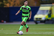 Forest Green Rovers Lloyd James(4) on the ball during the The FA Cup 1st round match between Oxford United and Forest Green Rovers at the Kassam Stadium, Oxford, England on 10 November 2018.