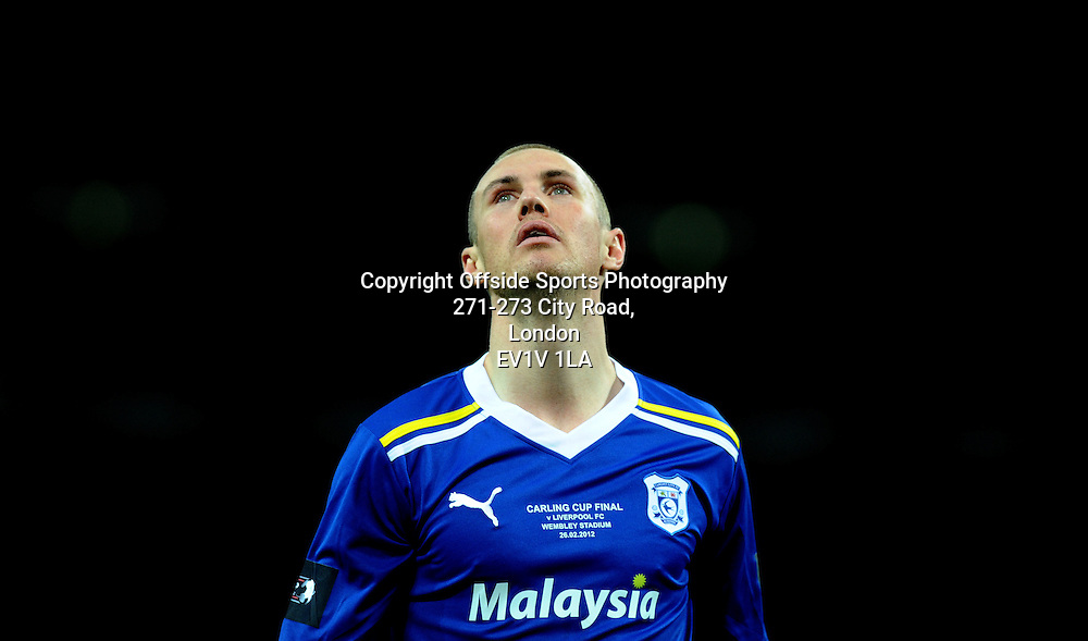 26/02/2012 - Carling Cup Football - Final - 2011-2012  - Cardiff v Liverpool - Kenny Miller of Cardiff looks on as he goes close to goal. - Photo: Charlie Crowhurst / Offside.