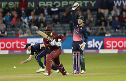 England's Jos Buttler successfully appeals for lbw against West Indies' Ashley Nurse during the Third Royal London ODI at Bristol County Ground.