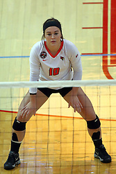 18 November 2016:  Megan Beutke during an NCAA women's volleyball match between the Northern Iowa Panthers and the Illinois State Redbirds at Redbird Arena in Normal IL (Photo by Alan Look)