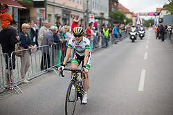 Rachel Neylan (AUS) of Team Australia finishes on Stage 3 of the Lotto Thuringen Ladies Tour - a 124 km road race, starting and finishing in Weimar on July 15, 2017, in Thuringen, Germany. (Photo by Balint Hamvas/Velofocus.com)