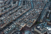 Nederland, Noord-Holland, Amsterdam, 16-01-2014;<br /> Close-up Amsterdam grachtengordel, centrum. Onder in beeld,  de Balie, Max Euweplein en muziektempel Paradiso. Diagonaal midden Prinsengracht. Bioscoopcomplex City.<br /> Close-up Amsterdam: ring of canals, center, music temple Paradiso. Center pic Prinsengracht.<br /> luchtfoto (toeslag op standard tarieven);<br /> aerial photo (additional fee required);<br /> copyright foto/photo Siebe Swart