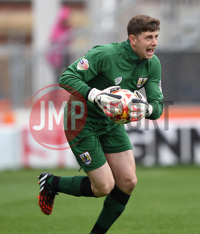 Bristol City goalkeeper, Frank Fielding - Photo mandatory by-line: Paul Knight/JMP - Mobile: 07966 386802 - 03/05/2015 - SPORT - Football - Bristol - Ashton Gate Stadium - Bristol City v Walsall - Sky Bet League One