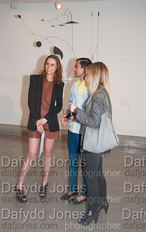 EROLA FARRE; SHANAY JHAVERI; JESSIE CHANEY, Pilar Ordovas hosts a Summer Party in celebration of Calder in India, Ordovas, 25 Savile Row, London 20 June 2012